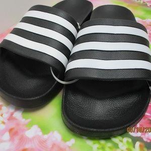 Adidas Womens black & White Sandals size 10 US